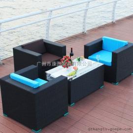 厂家直销定做编藤桌椅 滕制休闲沙发椅 仿藤家具