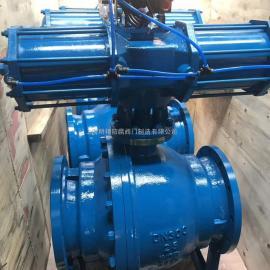 气动固定球阀 气动法兰球阀 厂内实拍图片