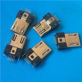 贴片MICRO 5P公头SMT 贴板V8 USB全贴 超薄