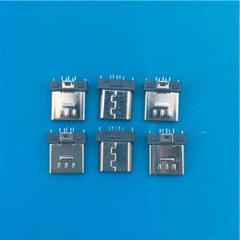 MICRO短体公头5P 8.0mm插板式dip夹板超短超薄