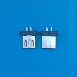 短体MICRO 8.3mm公头5P夹板3.0超薄 超短插头