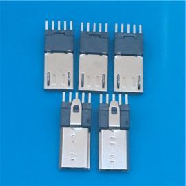 加长MICRO 5P公头插板180度直插DIP立式15.0