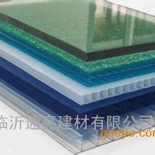 厂家直销米字型12mm湖蓝阳光板乳白色阳光板单层耐力板
