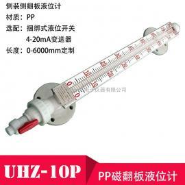 uhz-10P PP材�|防腐磁翻板液位�