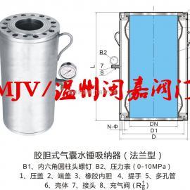 气囊胶胆式水锤吸纳器 气囊水锤吸纳器 水锤吸纳器