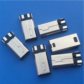 迷你5P MINI 2P公�^前五后二 焊�式 USB短�w