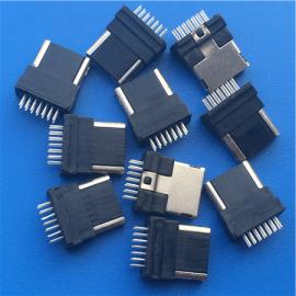 三星14P公�^MINI USB �A板焊�式 半包全包 全塑