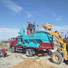 内蒙古边坡绿化客土喷播机出售喷播机