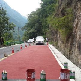 西安彩色陶瓷颗粒路面咸阳陶瓷颗粒路面渭南彩色防滑路面