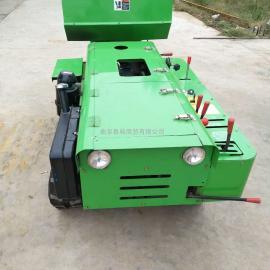 田园自动开沟机 履带式旋耕机 多功能果园自动施肥机