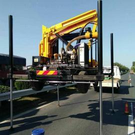 黑龙江高速公路养护型液压波形护栏打桩机