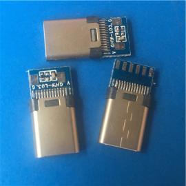 带板USB 3.1公头C TYPE充电2.0 3.0带电阻
