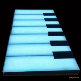 LED感应钢琴地砖灯可发声,户外防水地砖灯钢琴地砖灯