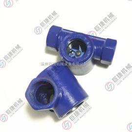 水流指示器【叶轮视镜】 法兰直通水流指示器 碳钢叶轮视镜