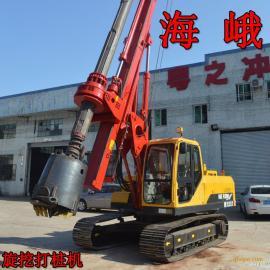 广东海峨桩工供应机锁杆加压履带旋挖钻机全程教学