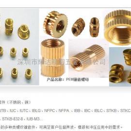 IUB-440-2黄铜热压式双斜纹 IUC-M3八字花螺母