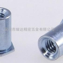 耀达五金通孔压铆螺柱SOO-M4-12铁质镀锌铆螺柱 压铆螺柱 螺母柱