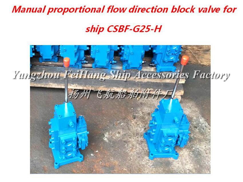 CSBF-H-G25船用手动比例流量方向复合阀