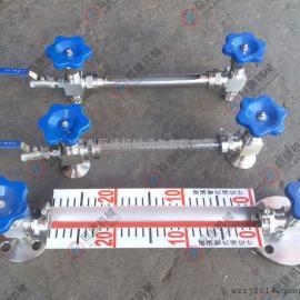 带刻度法兰液位计 带排污阀法兰考克 不锈钢法兰水箱液位计