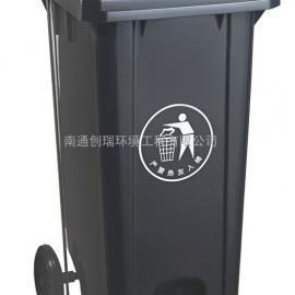 苏州240l加厚脚踩塑料垃圾桶-苏州小区塑料脚踩垃圾桶