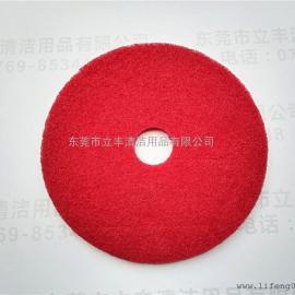 17寸百洁垫 17寸红色清洁垫 红色打磨片 洗地机打磨片