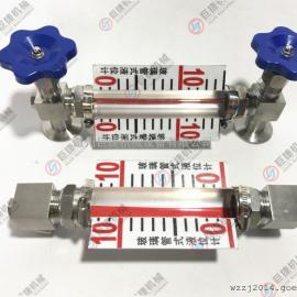 铝板刻度玻璃管液位计 快装液位计 不锈钢带刻度液位计