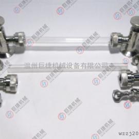 玻璃管式液位计 304不锈钢卫生级液位计 卡箍式液位计