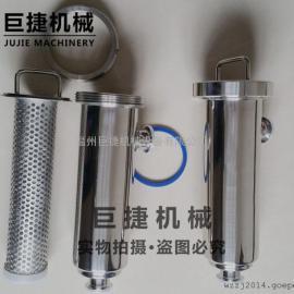 卫生级快装过滤器/角式管道过滤器(中头螺母或卡箍)不锈钢过滤