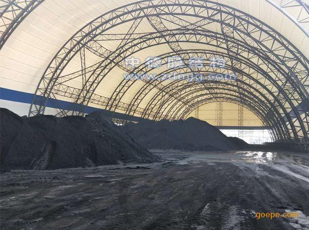 深圳市中德膜结构有限公司 产品展示 建筑 > 充气储煤仓,气膜煤棚代价