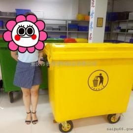 660L环卫垃圾桶,重庆户外挂车垃圾箱价格
