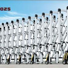 遵义不锈钢无轨电动伸缩门,遵义厂区大门不锈钢电动伸缩门价格