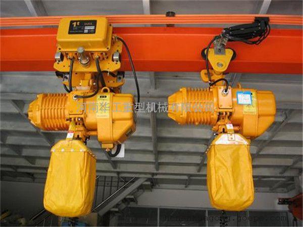 电动链条式提升机 双链运行葫芦 3t*6m运行环链电动葫芦销往河南
