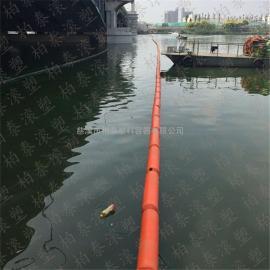 挡垃圾专用水上浮子 塑料浮筒 PE拦污排(安装图)