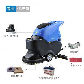 南通洗地车厂家,工厂车间保洁用手推式电动洗地机容恩R50B