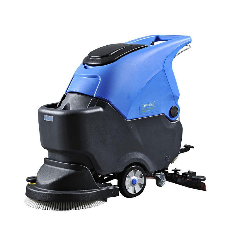 车站用的洗地机拖地机价格|容恩R50B电瓶洗地机小区保洁拖地机