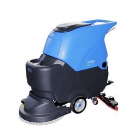 容恩洗地机厂家直销R50B机械加工车间油污地面电瓶式拖地吸干机