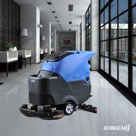 北京电子厂空中用全主动洗地机|容恩自走式洗地机R70BT