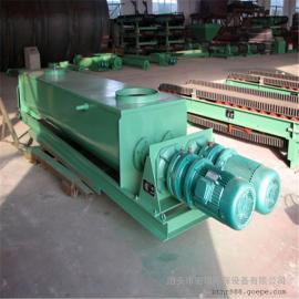 宏瑞SJ-80双轴粉尘加湿机 卧式超细粉尘双轴搅拌合金双螺旋叶片