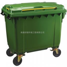 张家港1100L塑料垃圾箱-张家港垃圾箱厂家-苏州垃圾车批发