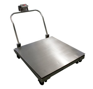 带扶手移动式电子叉车秤 3吨移动平台秤