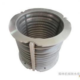 不锈钢304楔形网筒餐厨垃圾�赫�C脱水�^�V网干湿分离�^�V