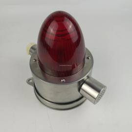 化肥厂不锈钢耐磨蚀报警器 红色防爆声光报警器 座式IIC级报警灯