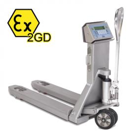 狄纳乔TPWX2GD防爆不锈钢手动搬运车秤