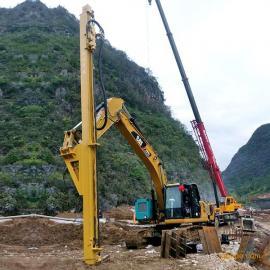 全新卡特350改全液压挖改凿岩机钻孔机--亿山挖改钻厂家