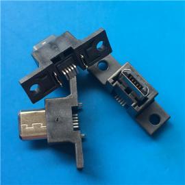 立�NMICRO 5P公�^立式�N片B型180度SMT直立式�N板H=13.0mm