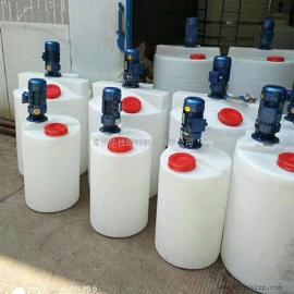 南通1T耐酸碱化工搅拌桶防腐计量罐PE加药箱厂家