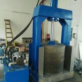 30吨棉絮压榨机-塑料薄膜压水机-厨余液压压水机