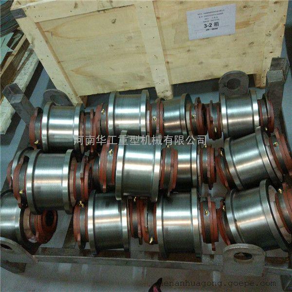 球铁内花键欧式轮 φ140轮轴一体车轮组 50方钢小车轮