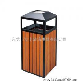 LF-D78-A公园锥顶果皮箱 钢木垃圾桶厂家 东莞垃圾桶厂家