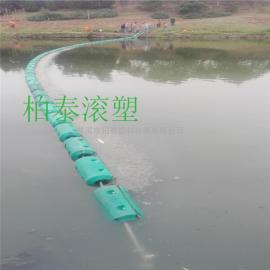 水上挡垃圾用什么――漂浮式水上塑料浮筒施工(图)